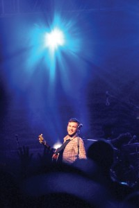 Headliner Phillip Phillips smiles at the audience during Eaglepalooza on Friday night. Jill Johnson/Printz