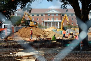 Construction continues on August 16, 2013 on the site that will soon be the new Century Park South residence halls.