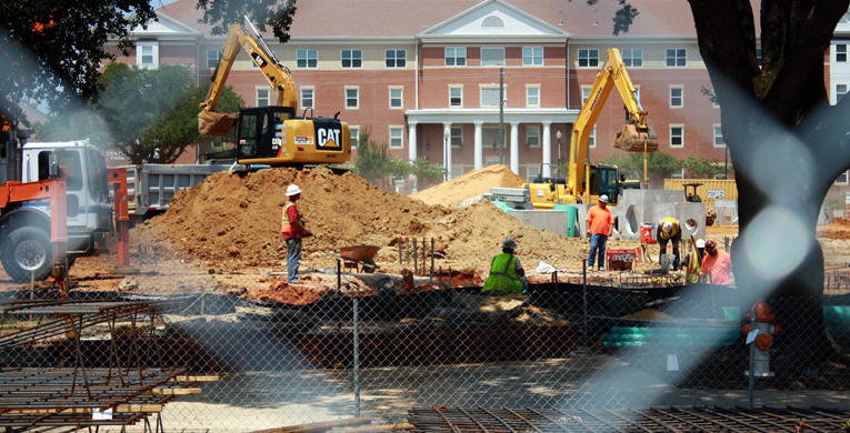 Construction on campus continues
