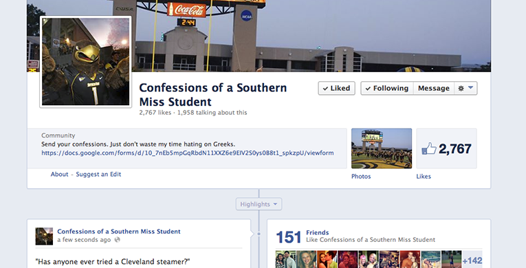 Confession page sparks debate