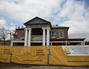 A year after taking a direct hit from the 2013 tornado, the Ogletree House is well on its way to being restored.  Kate Dearman/Printz