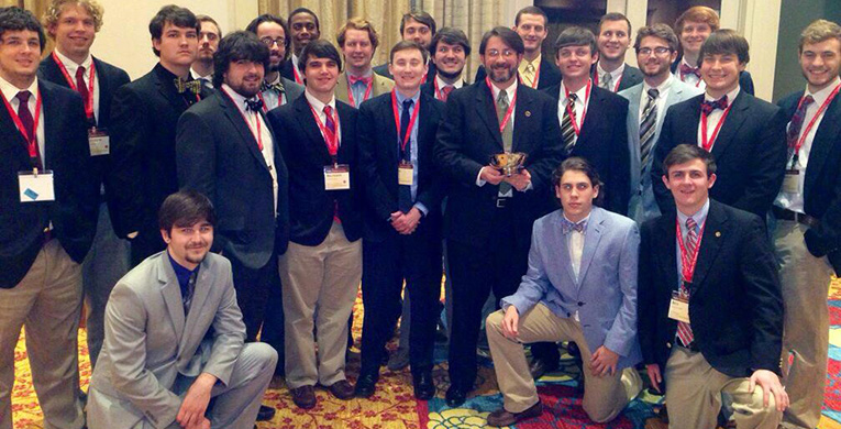 Fraternity awarded for volunteer work