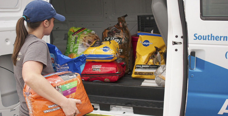 Pet food bank assists families in need