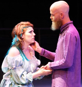 "Derrick Phillips and Emily Classen from USM's Department of Theatre perform Shakespeare's ""The Tempest"" April 17 and 18. More performances are scheduled April 22-26 at 7:30  p.m. and a matinee performance is scheduled for April 27 at 2 p.m. Michael Kavitz/Printz"