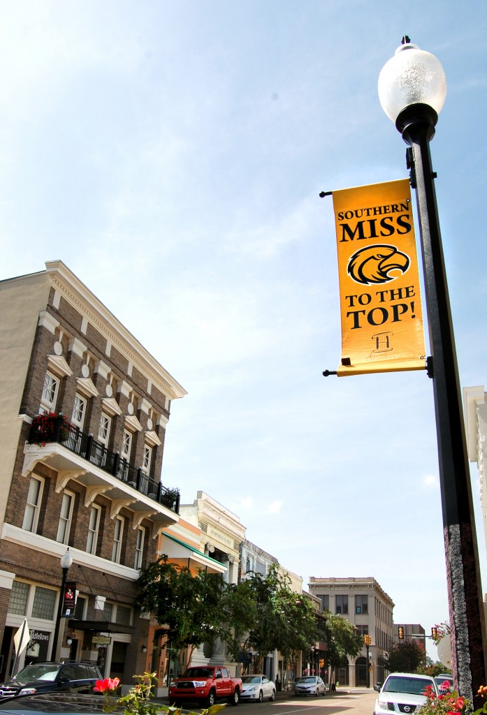 Downtown Hattiesburg is one of the many areas students go to for entertainment such as festivals and concerts that take place throughout the year.