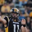 Southern Miss' second-string quarterback Cole Weeks passes against La. Tech's defense Saturday October 25th, 2014.  Cole is predicted to play in this week's game against UTEP if Mullens is still out from a foot injury. - Susan Broadbridge