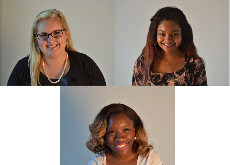 Sarah Beth Selph (left) Kapriatta Jenkins (right) Eboni Thompson (bottom) - Photos by Jordan Crump, The Student Printz