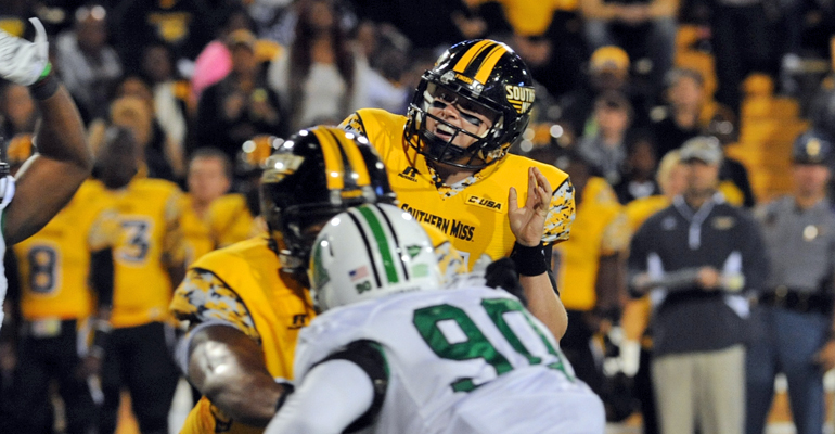 Marshall pummels Southern Miss 63-17