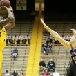 Junior Norville Carey takes a shot for the Eagles at their game on Thursday, Feb. 26. Southern Miss won their game againt UTSA 70-66.- Abby Smith