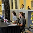 Students vote in Tuesday's SGA election inside the Thad Cochran Center