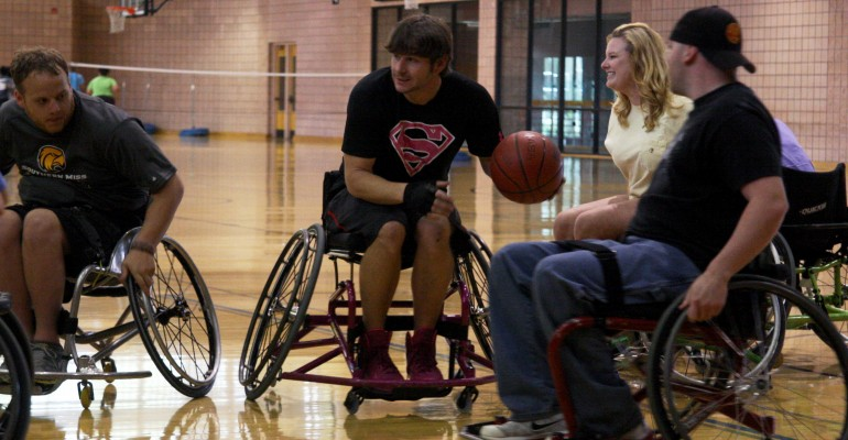 USM Participates in Golden Eagle Wheelchair Basketball Event