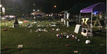Tailgaters leave behind a mess