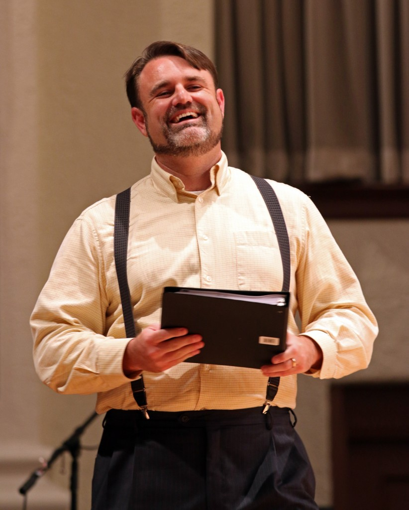 "The Southern Miss Showcase Concert of the Southern Invitational Choral Conference 2015 was held at Bennett Auditorium on the USM campus Monday, September 28, 2015.  Taylor Hightower sings ""Bella figlia dell'amore"" from Rigoletto. Fadi Shahin/Student Printz"