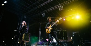 Echosmith performs at Eaglepalooza in downtown Hattiesburg following Southern Misses last home game for the 2015 season on Nov 21.