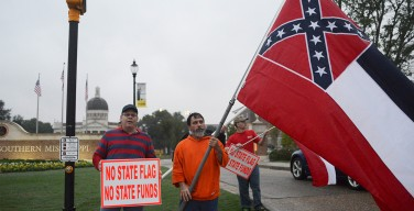 'It's not about hate' Flag supporters protest recent events