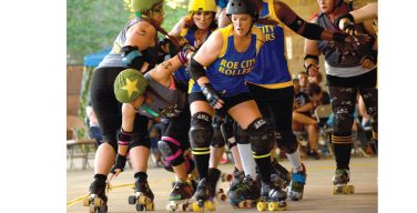Rebel Army Derby rolls to victory in first home bout