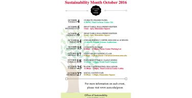 USM involved in month-long sustainability event
