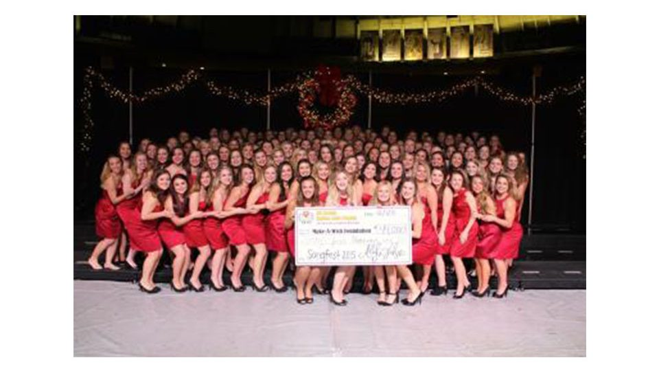Chi Omega partners with Make-A-Wish for Songfest