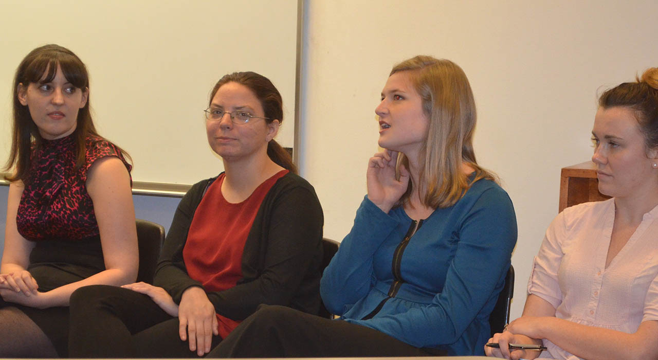 Alumni share career journey, advice with students