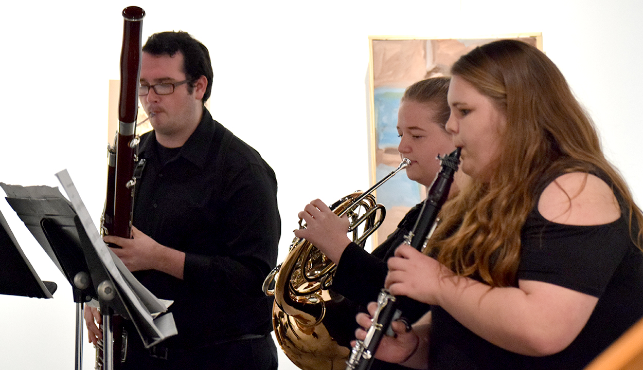 Music, art, poetry collide at showcase