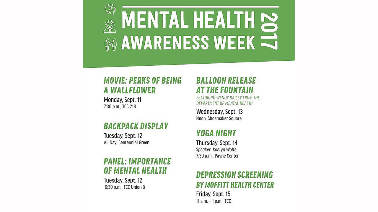 SGA hosts Mental Health Awareness Week from Sep. 11 – 15