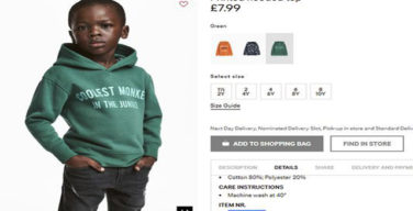 H&M receives backlash for racially insensitive hoodie