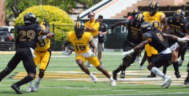 Spring game highlights new faces of the offense