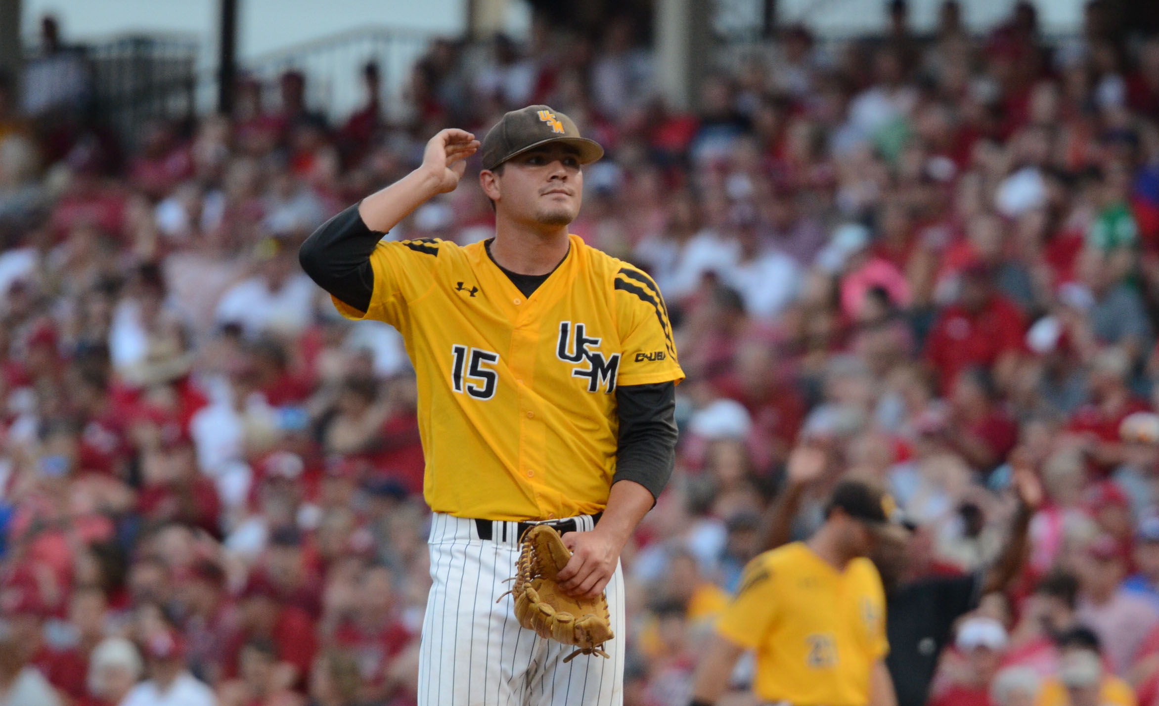 Southern Miss will rematch Dallas Baptist after 10-2 loss to Arkansas