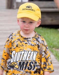 A child showing support for the Golden  Eagles